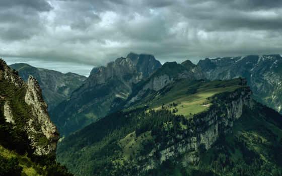 before, moby, закат, горы, природа, alpstein, пасмурная, янв, погода,