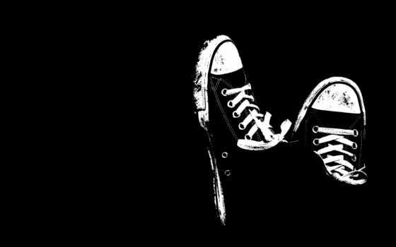 чёрно, кеды, white