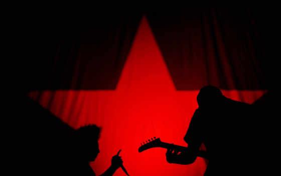 rock, музыка, black, red, star, стиль, anime,
