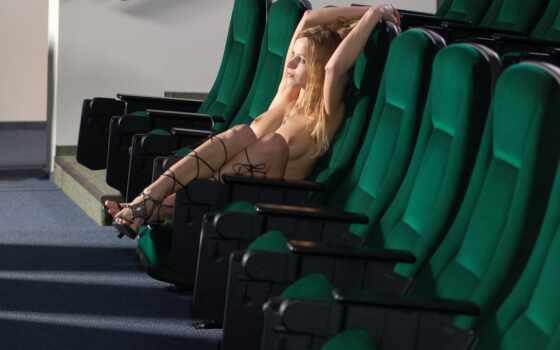 devushki, ожидании, фильма, кресло, кинозал, plochu,