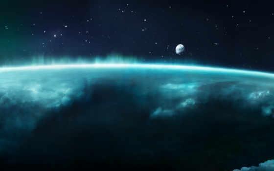космос, атмосфера, sci, planet, blue, pinterest,