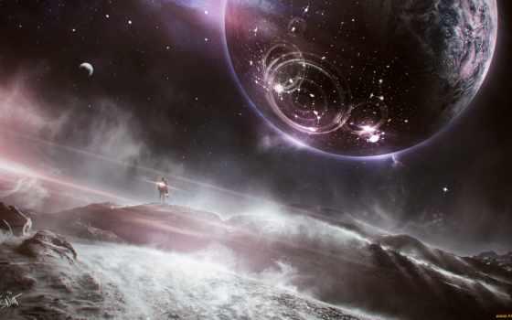 planetas, mundo, fantástico, planeta, pantalla, fondos, parede, tema, superfície, del,