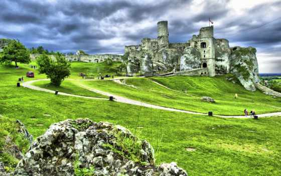 castle, развалины, старинный, high, desktop, free, wonderful,