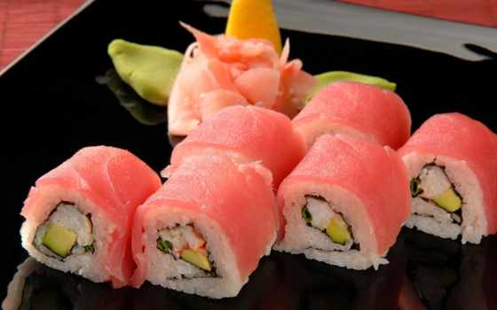роллы, суши, рыба
