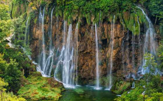 plitvice, озеро, фотообои, park, national, водопад, природа, хорватия, цена, магазин