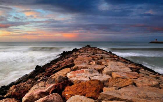 море, небо, скалы