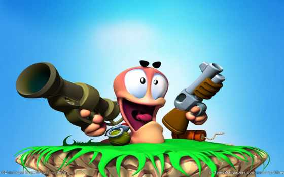 worms, jeux, ver, jeu, terre, les, video, que,