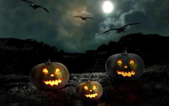halloween, луна, полнолуние, тыквы, ночь, тыква, праздники, happy, праздник,