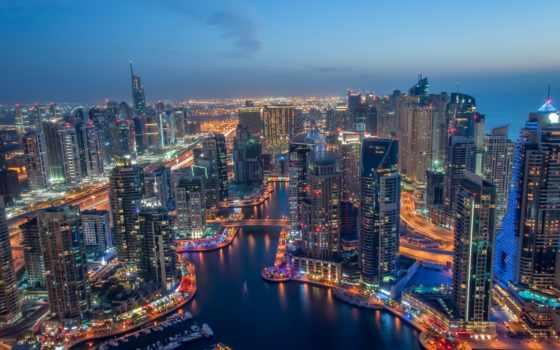 оаэ, dubai, небоскребы, сверху, города, that, марина, картинка,