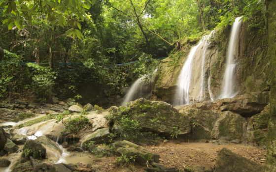 природа, таиланда, таиланд, favourite, водопады, природы, thai, лес, пейзажи -,