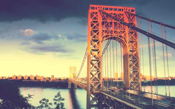 , ваниль, мост, река, залив,