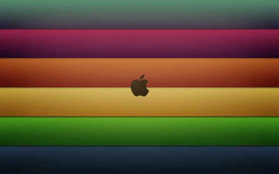 apple на радужных полосках