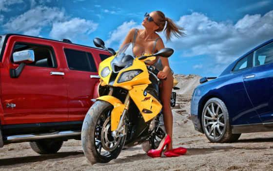 девушка, devushki, мотоциклы Фон № 105179 разрешение 1366x768