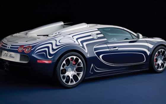 bugatti, veyron, blanc, спорт, grand,