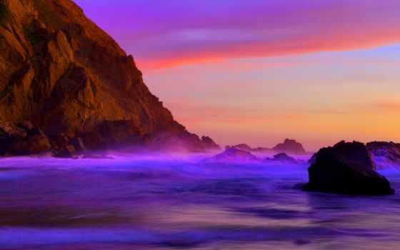 пляж, кнут, пфайффер, purple, фиолетового, пфайфер, possible, калифорнии, места,