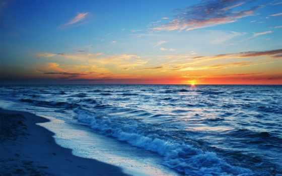 красивые, моря, море, природа, океана,