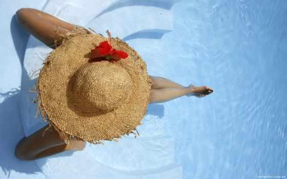 девушка, соломенной, шляпе, соломенная, шляпа, шляпки, июл, шляпы, сидит, краю, devushki,