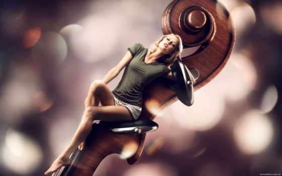 devushka, скрипка, werderitsch