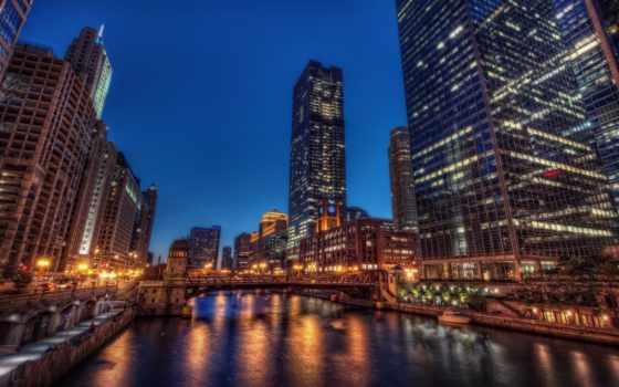 город, река, chicago