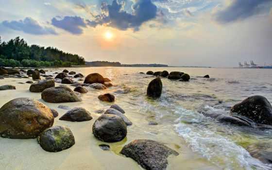 закат, море, punggol, rugaciuni, берег, камни, dumnezeu, landscape, порт, catre, images,