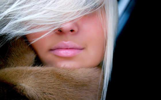 губы, белые, девушка, волосы, blonde, заставки, взгляд, fantasy, art, bang,