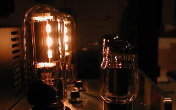 трубка, amplifier, свечение, audio, vacuum, tubes, оранжевый, стерео,