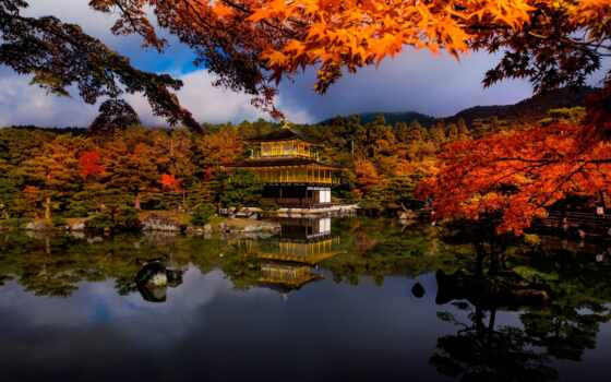 отражение, осень, япония, oldalak