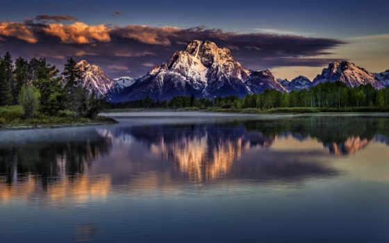 горы в закате