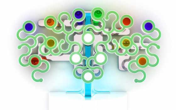 абстракция, дерево, white