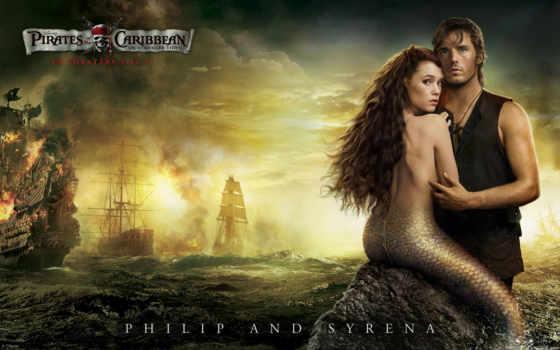 корабли, пираты, карибского, моря, люди, интерьер, странных, берегах, тегом, русалка,