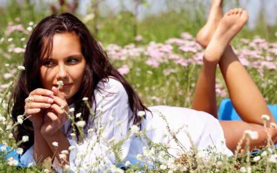 девушка, цветы, devushki, клипарт, летом, море, цветах, поляна, файлов, минимальный,