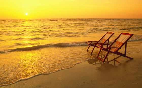 пляж, miami, сол, desktop, free, puesta, images,