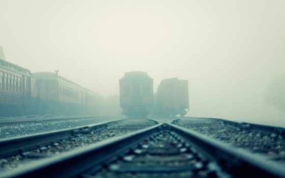 поезд, crossing, тропинка, railroad, paths, tracks, первую,