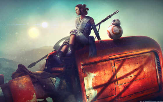star, wars, rey, сила, awakens, starwars, art, deviantart, kylo,