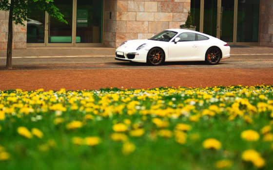 porsche, весна, цветы, офисы, белая, wallpaper, cars, мыши, выберите, кнопкой, правой,