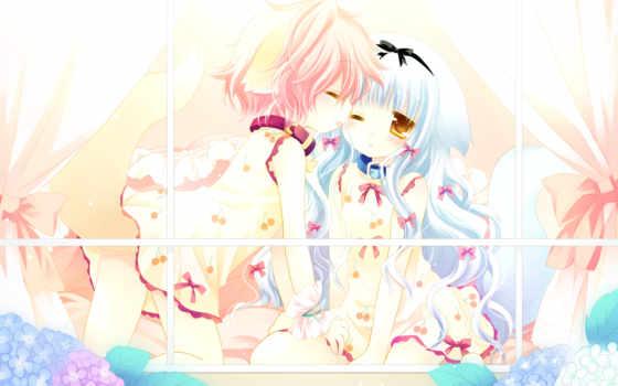 wanko, lily, foxgirl, loli, ears, animal, konachan, girls, sakurazawa, dress, izumi, tail,