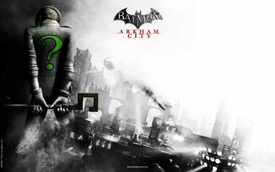 batman, arkham, city, riddler,