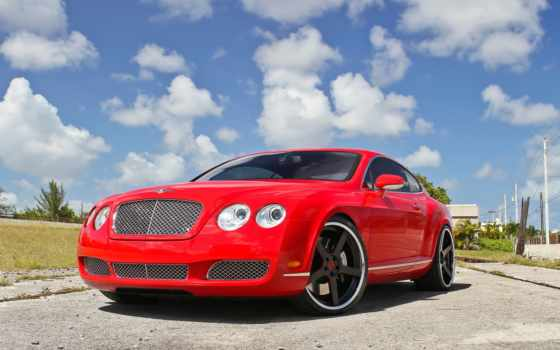 continental, bentley, red