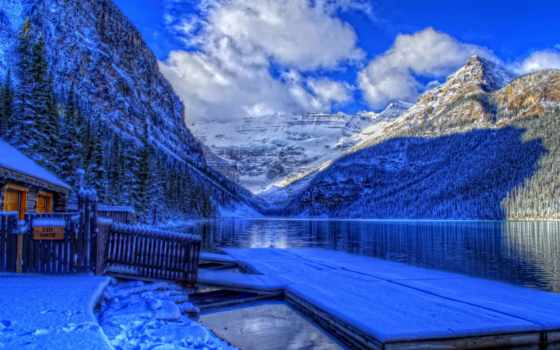 national, park, banff, канада, альберта, озеро, канадский, снег, winter, louise,