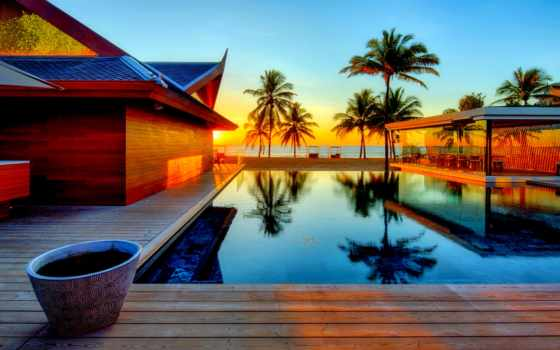 house, мечты, закат, dream, costa, пляж, бассейном, blanka, фоны,
