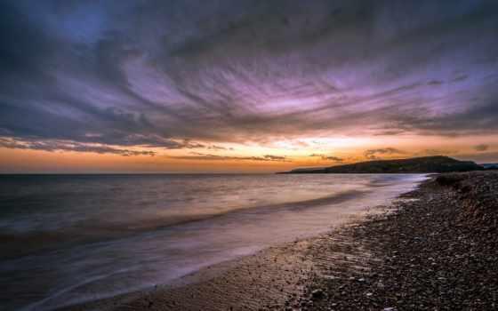кипр, закат, пляж, paramali, paphos, desktop,
