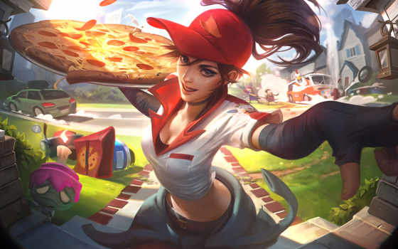 пицца, sivir, доставка, skin, league, legends, skins, birdio, new,