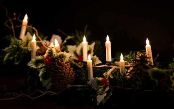 garland, год, new, коллекция, старый, новый год, cone, свеча, best, postcard