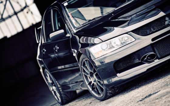 evo, cars, black, evolution, lancer, dark, der, fotoshooting, mit,