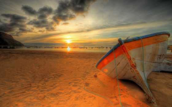закат, море, пляж Фон № 57364 разрешение 1920x1080