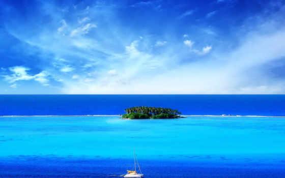 море, остров, красивые