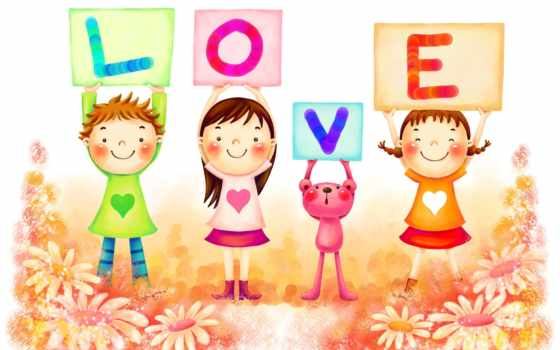 children, love, cute