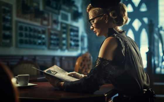 девушка, кафе, книга, vintage, reading, витажная,