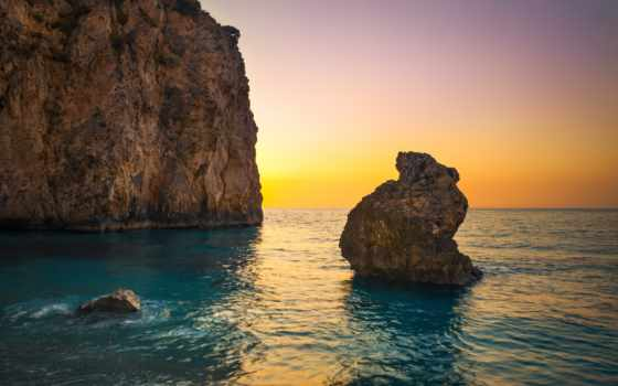 lefkada, пляж, ionian, greece, рай, остров, kariotes,