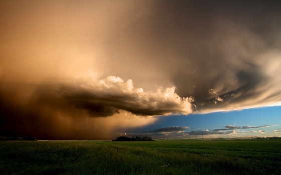 облако, буря, небо, природа